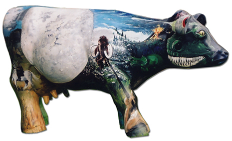 Cow mural painted by Tom Whitworth